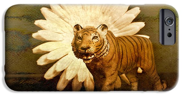 Tiger Digital iPhone Cases - Prowling iPhone Case by Jeff  Gettis