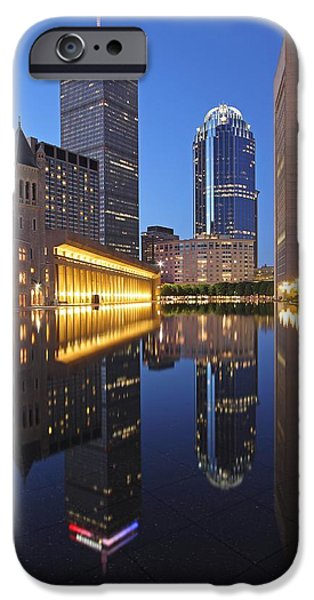 Home Improvement iPhone Cases - Prudential Center at Night iPhone Case by Juergen Roth