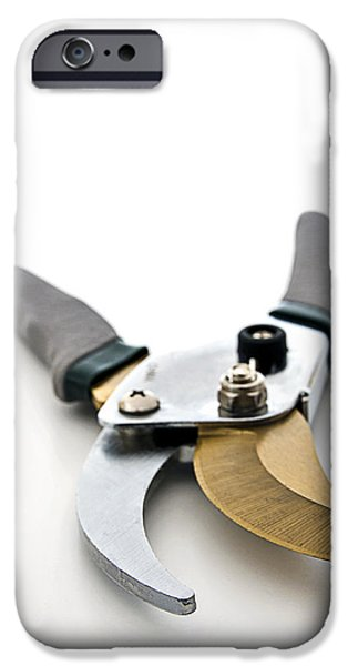 Hand Tool iPhone Cases - Prunning Shears iPhone Case by Donald  Erickson