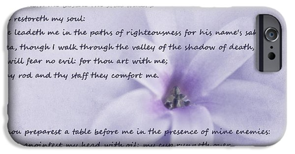 Bible Photographs iPhone Cases - Psalm 23 iPhone Case by David and Carol Kelly
