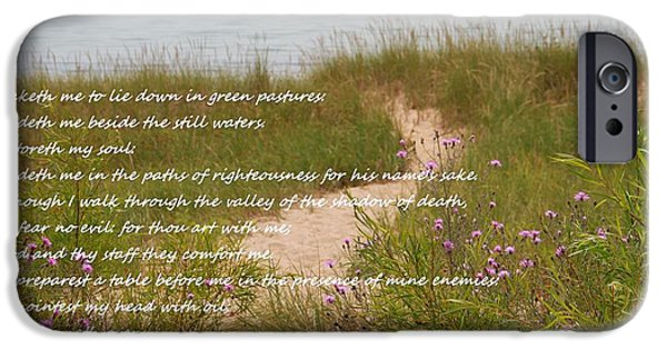 Pathway Mixed Media iPhone Cases - Psalm 23 Path  iPhone Case by Dan Sproul