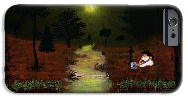 Rucker iPhone Cases - Psalm 23  iPhone Case by Michael Rucker