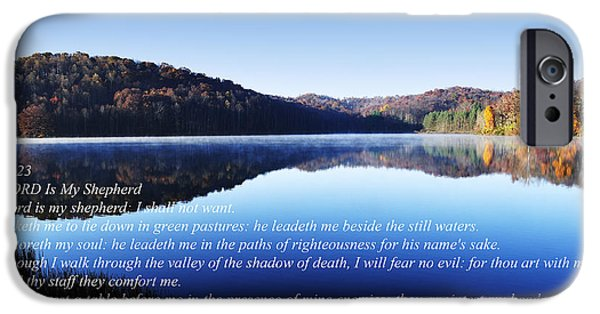Psalm iPhone Cases - Psalm 23 iPhone Case by Thomas R Fletcher