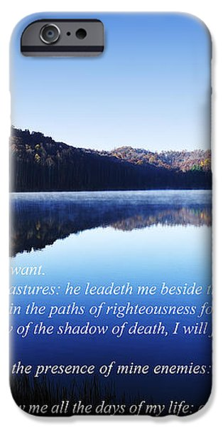 Psalm 23 iPhone Case by Thomas R Fletcher