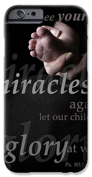 Miracle iPhone Cases - Psalms Composition iPhone Case by Misty Bedwell