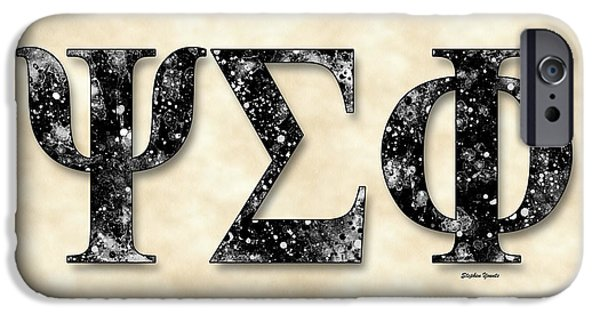 Psi iPhone Cases - Psi Sigma Phi - Parchment iPhone Case by Stephen Younts