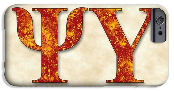 Psi iPhone Cases - Psi Upsilon - Parchment iPhone Case by Stephen Younts