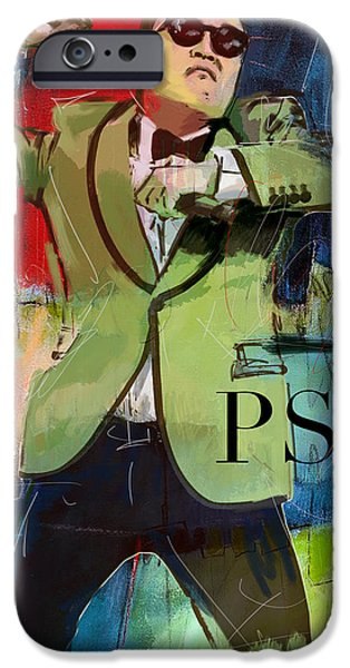 Dance Studio iPhone Cases - Psy iPhone Case by Corporate Art Task Force