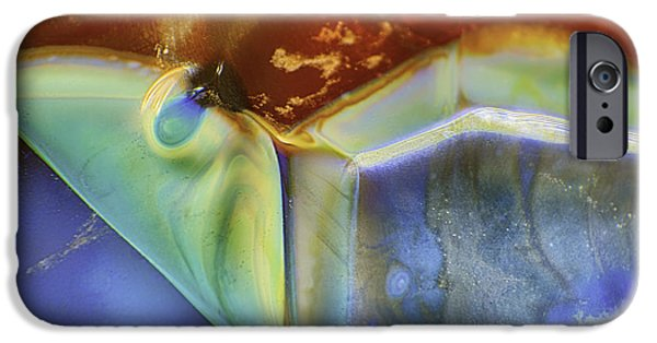 Van Goh Glass Art iPhone Cases - Psychadelic Butterfly iPhone Case by Omaste Witkowski