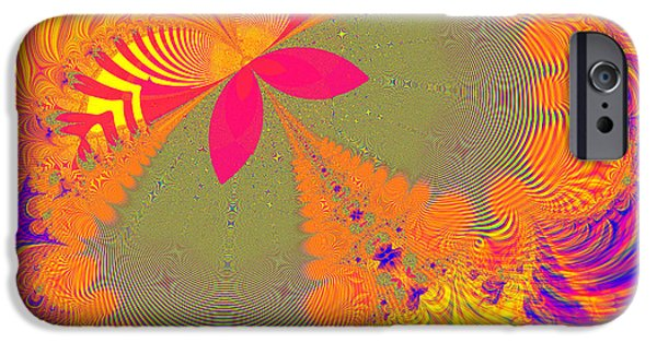 Artists4god iPhone Cases - Psychedelic Butterfly Explosion Fractal 61 iPhone Case by Rose Santuci-Sofranko