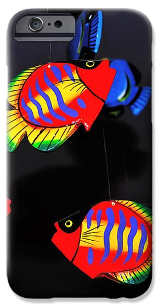 Psychedelic Flying Fish iPhone Case by Kaye Menner