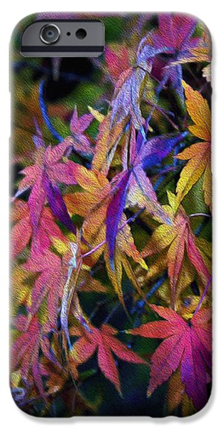 Psychedelic Maple iPhone Case by Kaye Menner