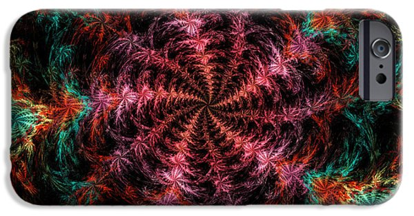 Vortex iPhone Cases - Psychedelic Spiral Vortex Purple Pink And Teal Fractal Flame iPhone Case by Keith Webber Jr