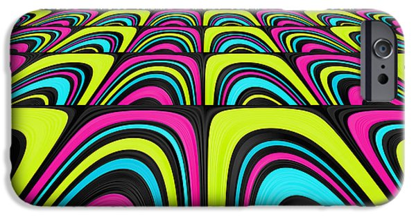 Psychedelic iPhone Cases - Psychel - 003 iPhone Case by Variance Collections