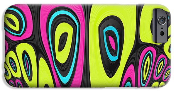 Psychedelic iPhone Cases - Psychel - 006 iPhone Case by Variance Collections