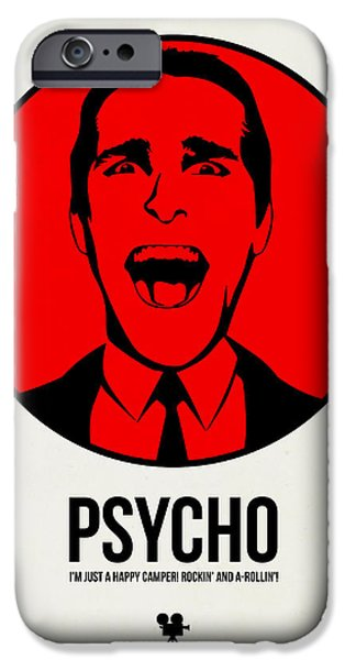 Film Mixed Media iPhone Cases - Psycho Poster 2 iPhone Case by Naxart Studio