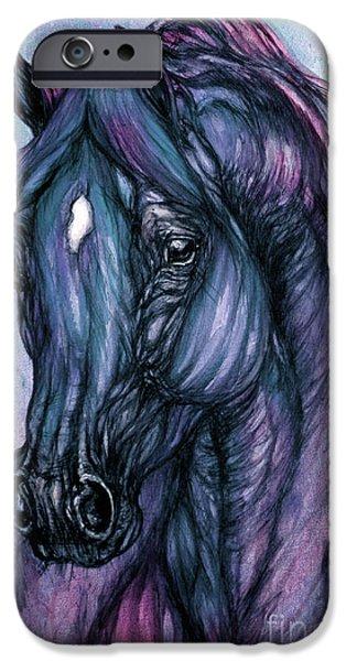 psychodelic deep blue iPhone Case by Angel  Tarantella