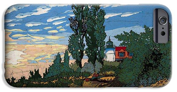 Sand Dunes Tapestries - Textiles iPhone Cases - Pt. Betsie Light House iPhone Case by Terri Haugen