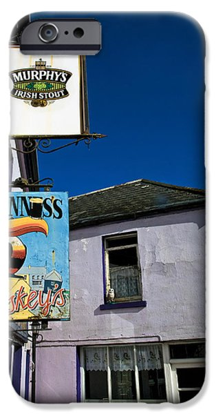 Sign-writing iPhone Cases - Pub Signs, Eyeries Village, Beara iPhone Case by Panoramic Images