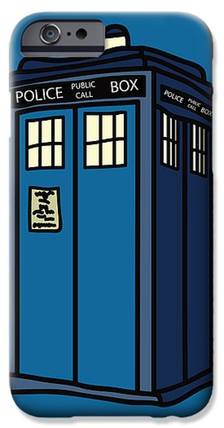 Dr. Who iPhone Cases - Public Call Box iPhone Case by Jera Sky