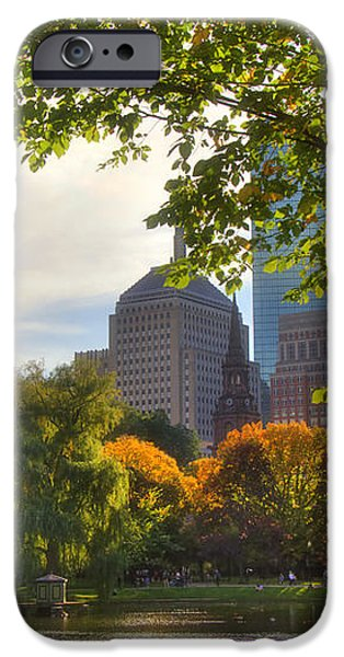 Public Garden Skyline iPhone Case by Joann Vitali