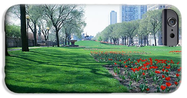 Pathway iPhone Cases - Public Gardens, Loop, Cityscape, Grant iPhone Case by Panoramic Images