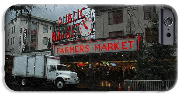 Rainy Day iPhone Cases - Public Market iPhone Case by Marvin C Brown