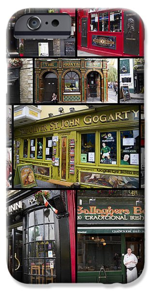 Interface Images iPhone Cases - Pubs of Dublin iPhone Case by David Smith
