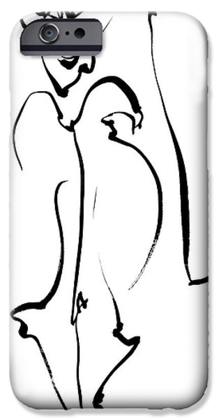 Figure iPhone Cases - Puck iPhone Case by SJ Crown