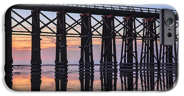 Creek iPhone Cases - Pudding Creek Trestle iPhone Case by Karma Boyer