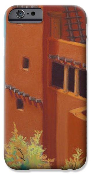 Autumn Pastels iPhone Cases - Pueblo Autumn iPhone Case by Tracy L Teeter