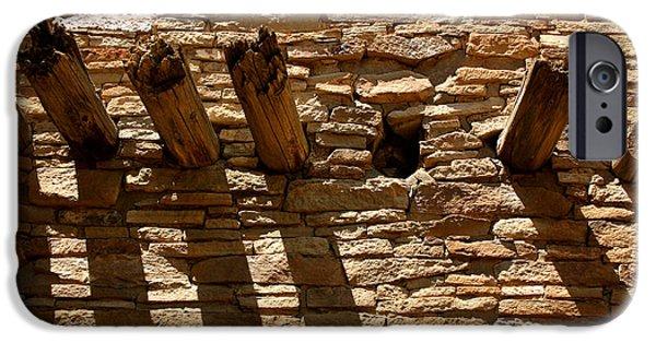 Pueblo Architecture iPhone Cases - Pueblo Bonito Wall iPhone Case by Joe Kozlowski