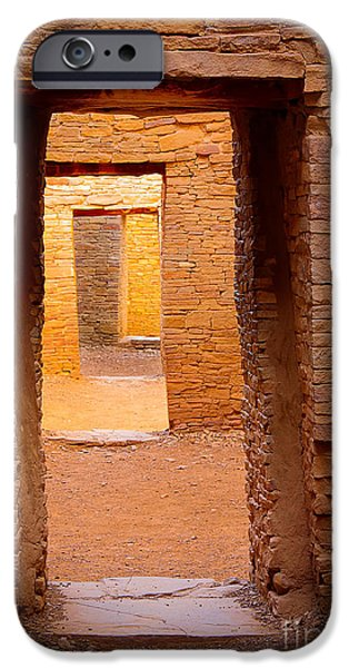 Solitude Photographs iPhone Cases - Pueblo Doorways iPhone Case by Inge Johnsson