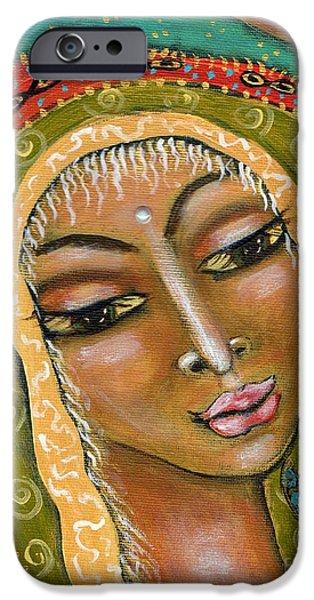 Maya Telford iPhone Cases - Pueblo Priestess iPhone Case by Maya Telford