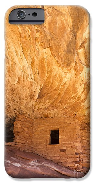 Slickrock iPhone Cases - Puebloan House on Fire iPhone Case by Colin D Young