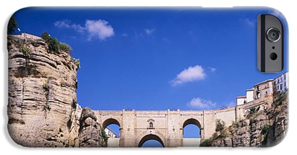 Malaga iPhone Cases - Puente Nuevo Bridge Above The Gorge iPhone Case by Panoramic Images