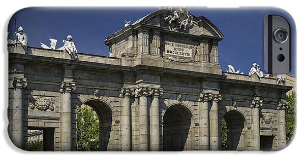 Independance Photographs iPhone Cases - Puerta De Alcala Madrid Spain iPhone Case by Susan Candelario