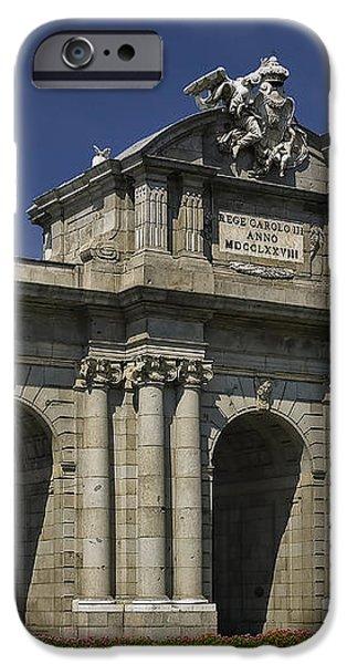 Puerta De Alcala Madrid Spain iPhone Case by Susan Candelario