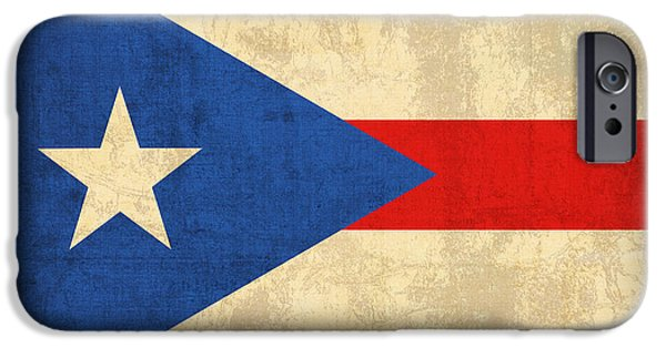 Nation iPhone Cases - Puerto Rico Flag Vintage Distressed Finish iPhone Case by Design Turnpike