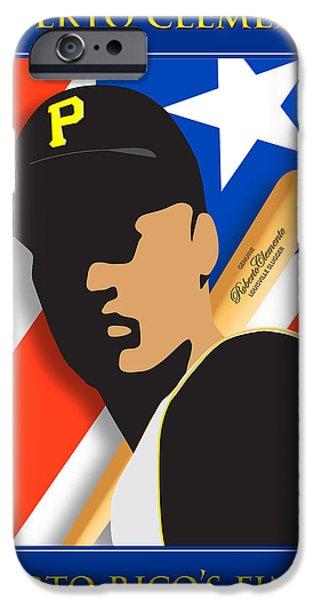 Roberto iPhone Cases - Puerto Ricos Finest iPhone Case by Ron Regalado