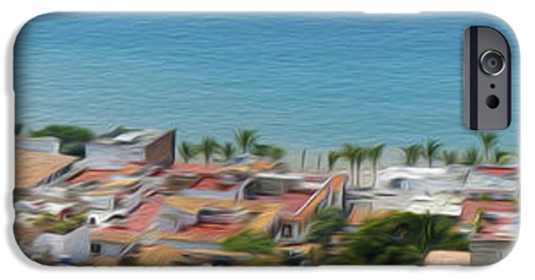 House iPhone Cases - Puerto Vallarta iPhone Case by Aged Pixel