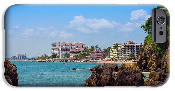 Beach Chair iPhone Cases - Puerto Vallarta iPhone Case by Aged Pixel