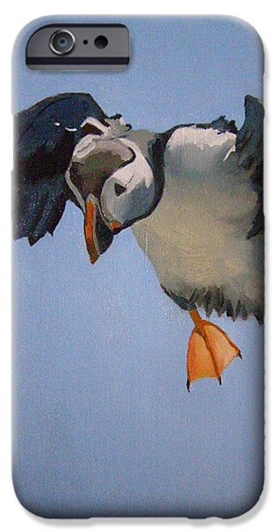 - Occupy Beijing iPhone Cases - Puffin Landing iPhone Case by Eric Burgess-Ray