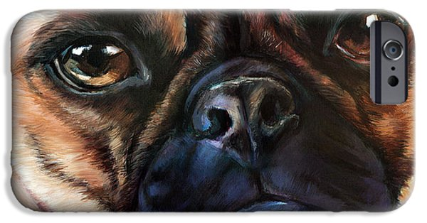 Soulful iPhone Cases - Pugly Study iPhone Case by Vanessa Bates