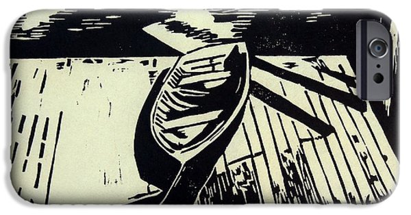 Printmaking iPhone Cases - Pulled Up iPhone Case by Wilson Stewart