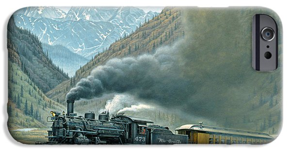 Steam iPhone Cases - Pulling for Silverton iPhone Case by Paul Krapf