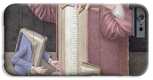 Puppets iPhone Cases - Pulling Strings, 2005 Wc On Paper iPhone Case by Jonathan Wolstenholme
