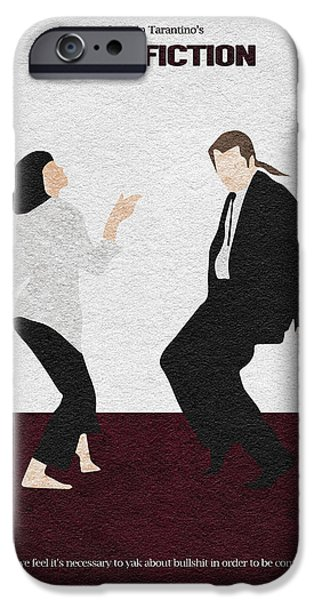 Quentin Tarantino iPhone Cases - Pulp Fiction 2 iPhone Case by Ayse Deniz