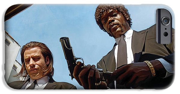 Quentin Tarantino iPhone Cases - Pulp Fiction Artwork 1 iPhone Case by Sheraz A