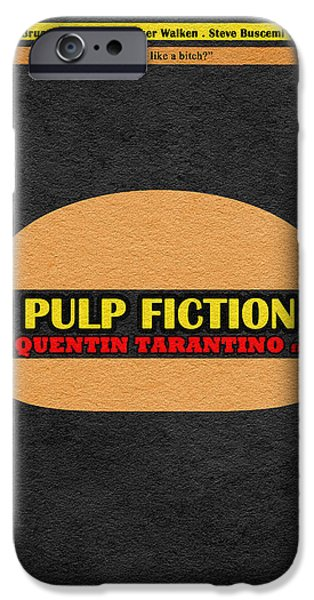 Nerd iPhone Cases - Pulp Fiction iPhone Case by Ayse Deniz